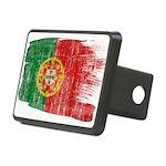 Portugal Flag Rectangular Hitch Cover