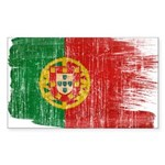 Portugal Flag Sticker (Rectangle 10 pk)