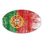 Portugal Flag Sticker (Oval 50 pk)