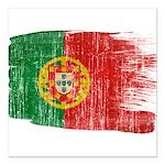 Portugal Flag Square Car Magnet 3