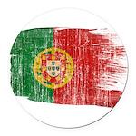 Portugal Flag Round Car Magnet