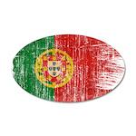 Portugal Flag 38.5 x 24.5 Oval Wall Peel