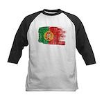 Portugal Flag Kids Baseball Jersey