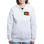 Portugal Flag Women's Zip Hoodie