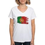 Portugal Flag Women's V-Neck T-Shirt