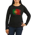 Portugal Flag Women's Long Sleeve Dark T-Shirt