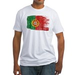 Portugal Flag Fitted T-Shirt