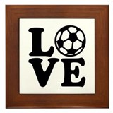 Soccer love Framed Tile