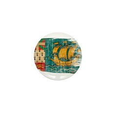 Saint Pierre and Miquelon Flag Mini Button (100 pa