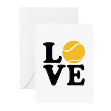 Tennis love Greeting Cards (Pk of 10)
