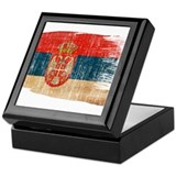 Serbia Flag Keepsake Box