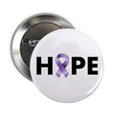 "Purple Ribbon Hope 2.25"" Button"