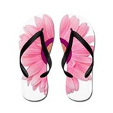 Pink Peace Daisy Flip Flops