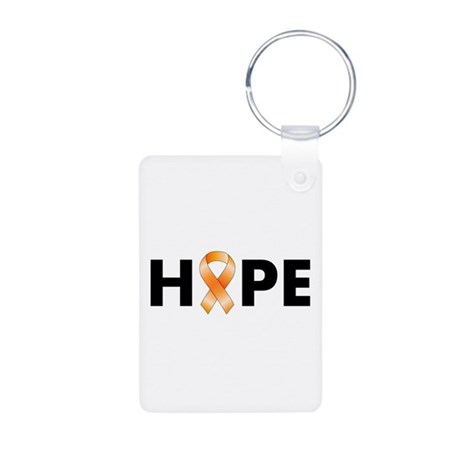 Orange Ribbon Hope Aluminum Photo Keychain