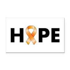 Orange Ribbon Hope Rectangle Car Magnet