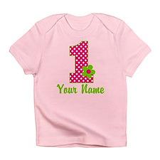 1stbdaypinkgren Infant T-Shirt