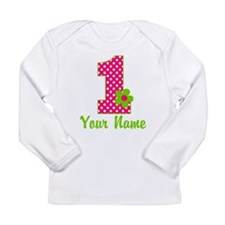 1stbdaypinkgren Long Sleeve Infant T-Shirt