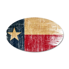 Texas Flag 38.5 x 24.5 Oval Wall Peel