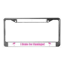 Flamingo License Plate Frame