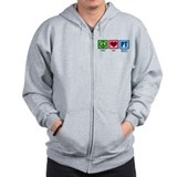 Peace Love PT Zip Hoody