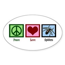 Peace Love Spiders Decal
