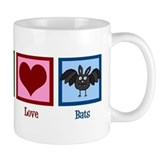 Peace Love Bats Small Mug