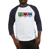 Peace Love Bats Baseball Jersey