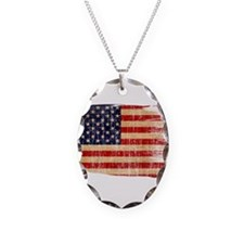 United States Flag Necklace