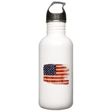 United States Flag Sports Water Bottle