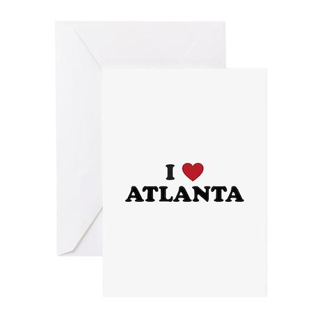 I Love Atlanta Georgia Greeting Cards (Pk of 20)