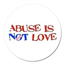 abuse01.png Round Car Magnet