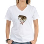Bourbon Red Poult Women's V-Neck T-Shirt