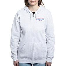 Women for Mitt Romney 2012 Pink Zip Hoodie