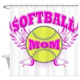 Softball mom Shower Curtain