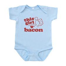 Girl Loves Bacon Infant Bodysuit