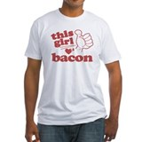 Girl Loves Bacon Shirt
