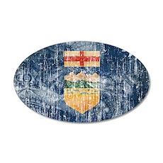 Alberta Flag 38.5 x 24.5 Oval Wall Peel