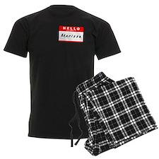 Marissa, Name Tag Sticker pajamas