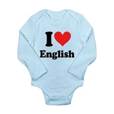 I Love English Long Sleeve Infant Bodysuit