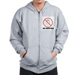 No Hippies Zip Hoodie