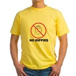 No Hippies Yellow T-Shirt