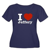 I love Jeffery Women's Plus Size Scoop Neck Dark T