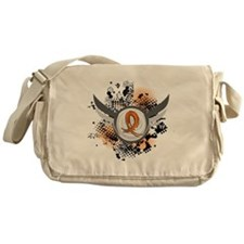 Wings and Ribbon Leukemia Messenger Bag
