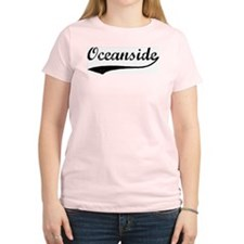 Oceanside - Vintage Women's Pink T-Shirt