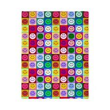 Multicolor Smileys Twin Duvet