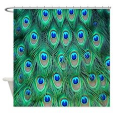 Peacock shower curtains peacock fabric shower curtain liner