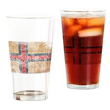 Faroe Islands Flag Drinking Glass