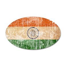 India Flag 38.5 x 24.5 Oval Wall Peel