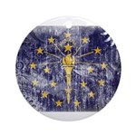 Indiana Flag Ornament (Round)