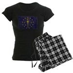 Indiana Flag Women's Dark Pajamas